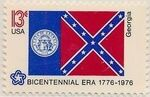 United States of America 1976 American Bicentennial - Flags of 50 States d