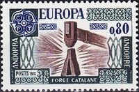 Andorra-French 1976 Europa a