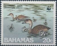 Bahamas 1988 WWF - West Indian Whistling Duck c