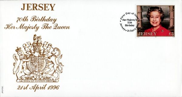 Jersey 1996 Queen Elizabeth II, 70th Birthday a