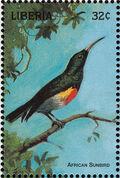 Liberia 1998 Birds of the World a