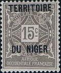 Niger 1921 Postage Due Stamps of Upper Senegal and Niger Overprinted c