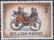 San Marino 1962 Automobiles (pre-1910) c
