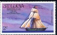 St Lucia 1976 200th Anniversary of American Revolution - Revolutionary Era Ships c