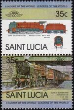 St Lucia 1983 Leaders of the World - LOCO 100 b