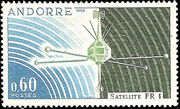 Andorra-French 1966 Launch of the French Satellite FR 1 a