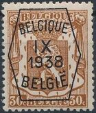 Belgium 1938 Coat of Arms - Precancel (9th Group) d