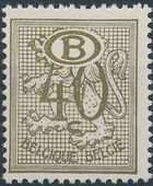 Belgium 1952 Official Stamps (Heraldic Lion with Numeral and B in oval) c