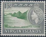 British Virgin Islands 1964 Queen Elizabeth II and Views j