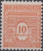 France 1944 Arc of the Triomphe - Allied Military Government j