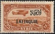 Latakia 1931 Air Post Stamps of Syria 1931 Overprinted h