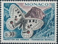 Monaco 1970 20th Anniversary of World Federation for Protection of Animals a