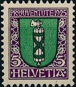 Switzerland 1925 PRO JUVENTUTE - Coat of Arms a