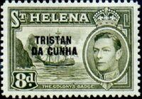 Tristan da Cunha 1952 Stamps of St. Helena Overprinted h