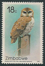 Zimbabwe 1987 Native Owls b