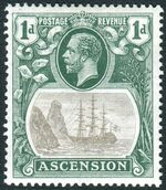 Ascension 1924 Seal of the Colony ba