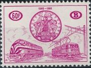 Belgium 1960 75th Anniversary of the National Railway Conferences c