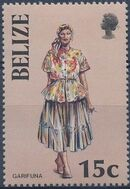 Belize 1986 Women in Folk Costumes c