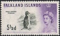 Falkland Islands 1960 Queen Elizabeth II and Birds g