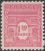 France 1944 Arc of the Triomphe - Allied Military Government f