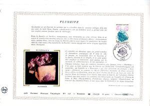 France 1986 Minerals FOLl