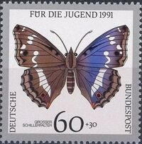 Germany-Unified 1991 Endangered Butterflies c