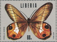 Liberia 1974 Tropical Butterflies g