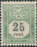 Luxembourg 1907 Postage Due Stamps e