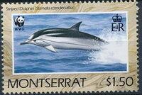 Montserrat 1990 WWF Dolphins c