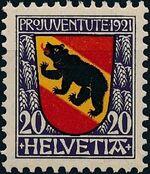 Switzerland 1921 PRO JUVENTUTE - Coat of Arms b