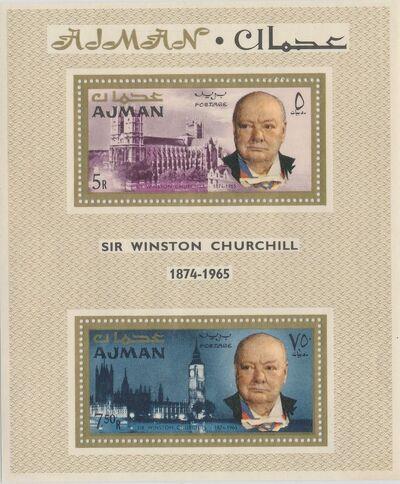 Ajman 1966 Winston Churchill SSa