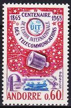 Andorra-French 1965 ITU Centenary a