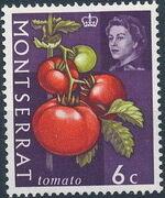 Montserrat 1965 Fruit & Vegetables and Portrait of Queen Elizabeth II f