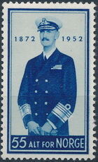 Norway 1952 80th Birthday of King Haakon VII b
