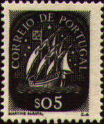 Portugal 1943 Portuguese Caravel (1st Issue) a