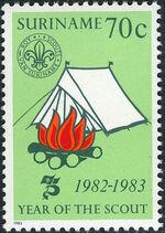 Surinam 1983 75 Years Of Scouting c