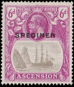 Ascension 1924 Seal of the Colony t
