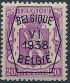 Belgium 1938 Coat of Arms - Precancel (6th Group) b