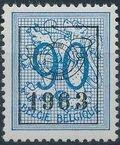 Belgium 1963 Heraldic Lion with Precancellations j