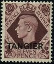 "British Offices in Tangier 1949 King George VI Overprinted ""TANGIER"" k"
