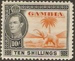 Gambia 1938 King George VI and Elephant (1st Group) l