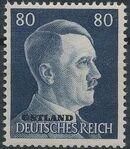 German Occupation-Russia Ostland 1941 Stamps of German Reich Overprinted in Black r