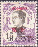 Hoi-Hao 1919 Indo-China Stamps of 1907 Surcharged HOI HAO and New Values f