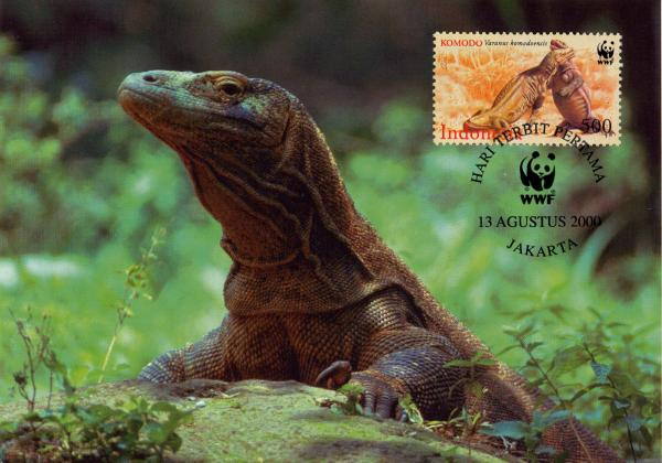 Indonesia 2000 WWF Komodo Dragon z