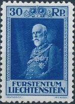 Liechtenstein 1933 80th Birthday of Prince Francis I c