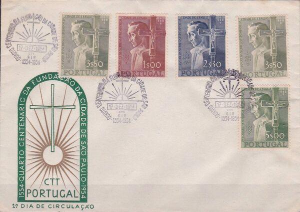 Portugal 1954 400th Anniversary of Founding of Sao Paulo, Brazil e