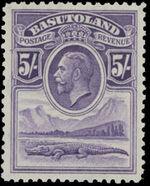 Basutoland 1933 George V, Crocodile and River Scene i