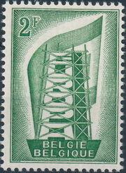 Belgium 1956 Europa a