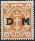 """Danzig 1921 Issues from 1921-1922 Overprinted """"D M"""" a"""