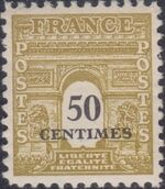 France 1945 Arc of the Triomphe - Allied Military Government d